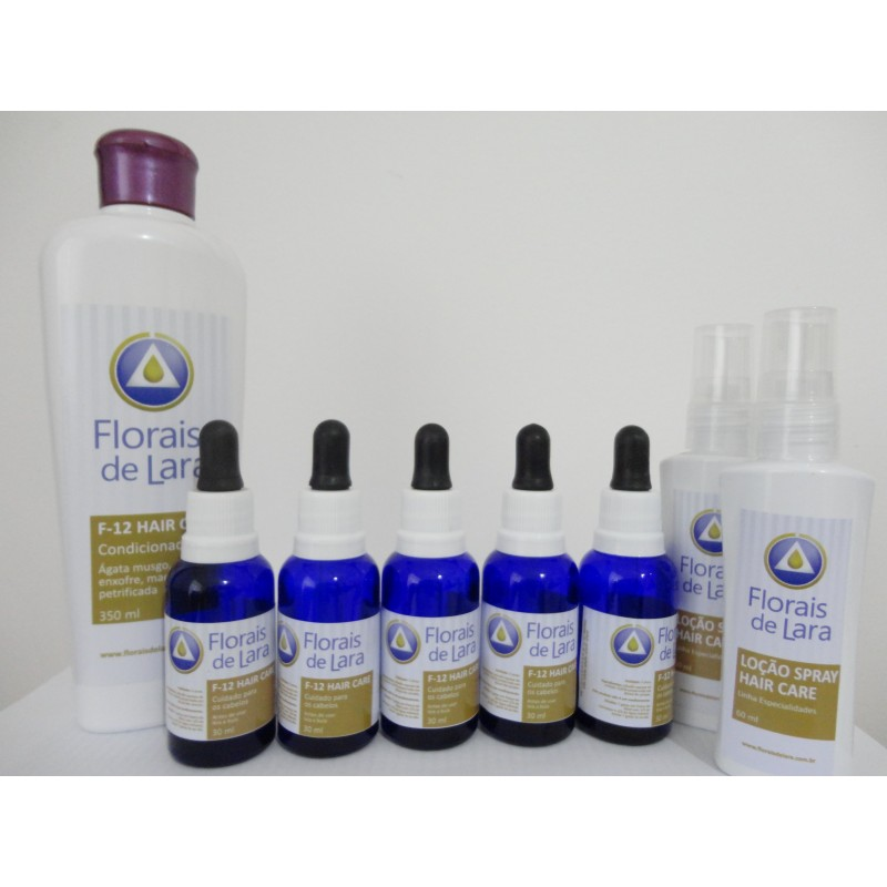 Kit  F-12 Hair Care Florais de Lara 5 meses